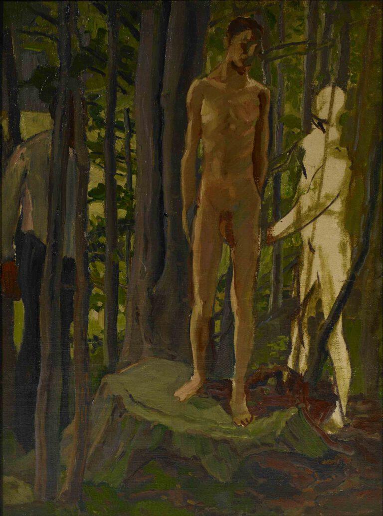 Sebastian auf dem Baumstumpf, 1909