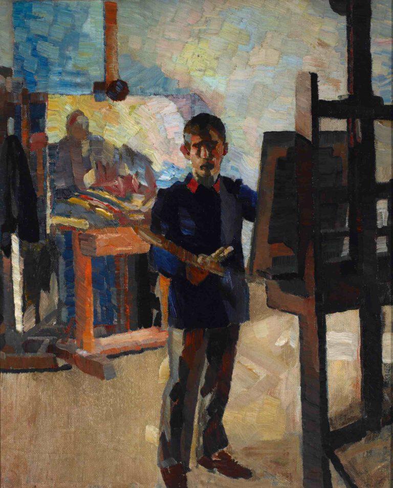 Selbstbildnis in blauer Litewka, 1908