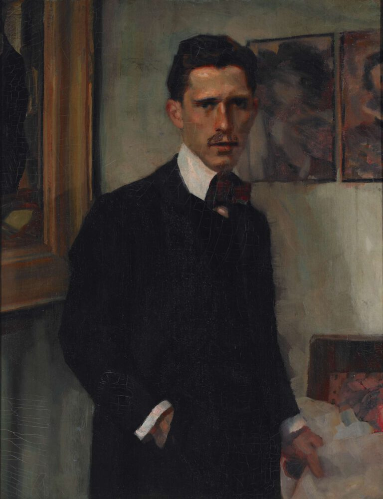 Selbstbildnis mit Dame in Rot, 1906