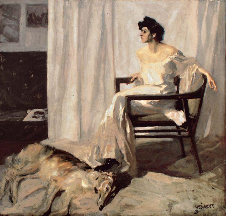 Dame mit Windhund, 1905