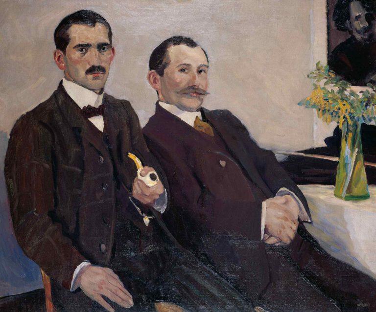 Albert Weisgerbers Brüder Peter und Fritz, 1907