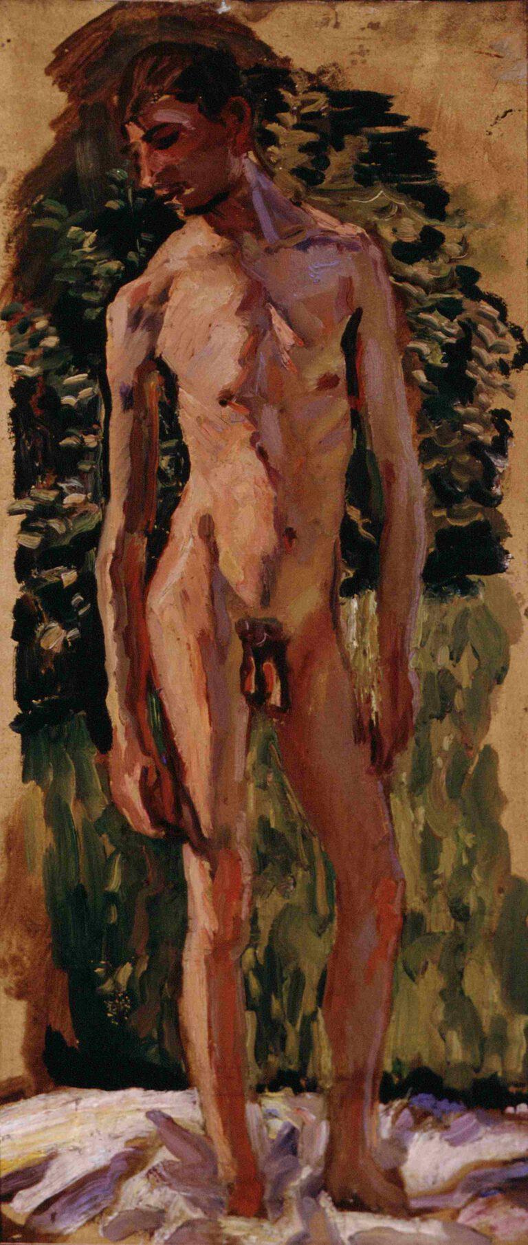 Stehender Jünglingsakt, 1909