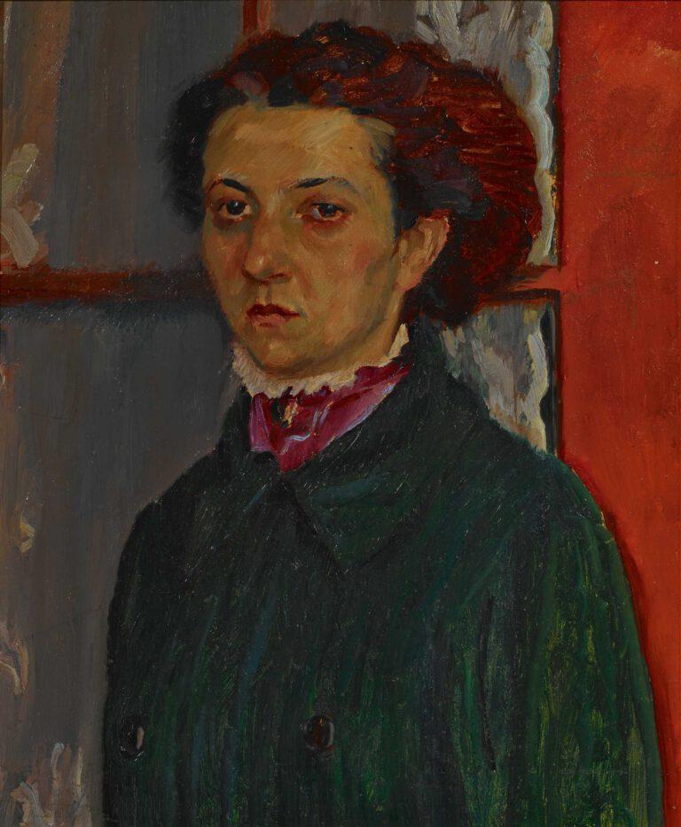 Bildnis Margarete Weisgerber mit grüner Jacke, 1909