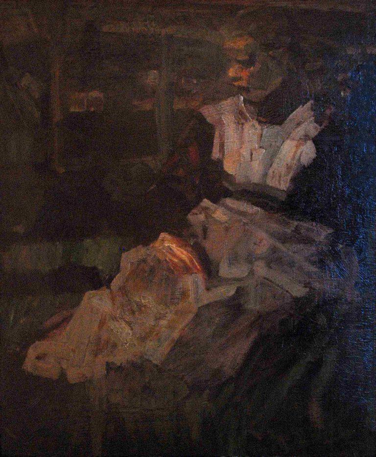 Sitzendes Bauernmädchen, 1902