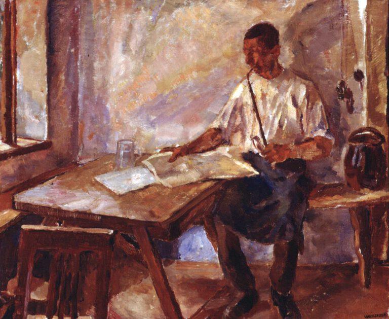 Lesender Bauer, 1911