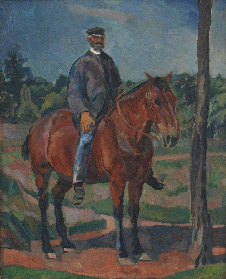Reitender Heidebauer, 1912