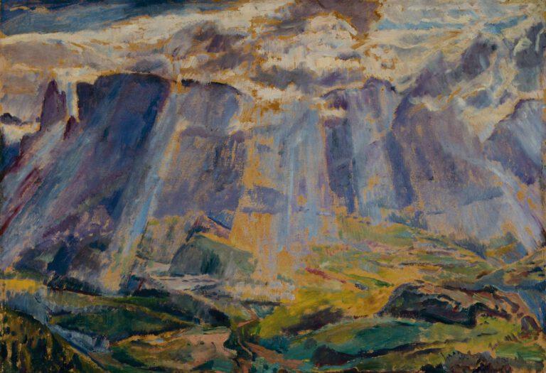 Alpenlandschaft in Südtirol, 1913