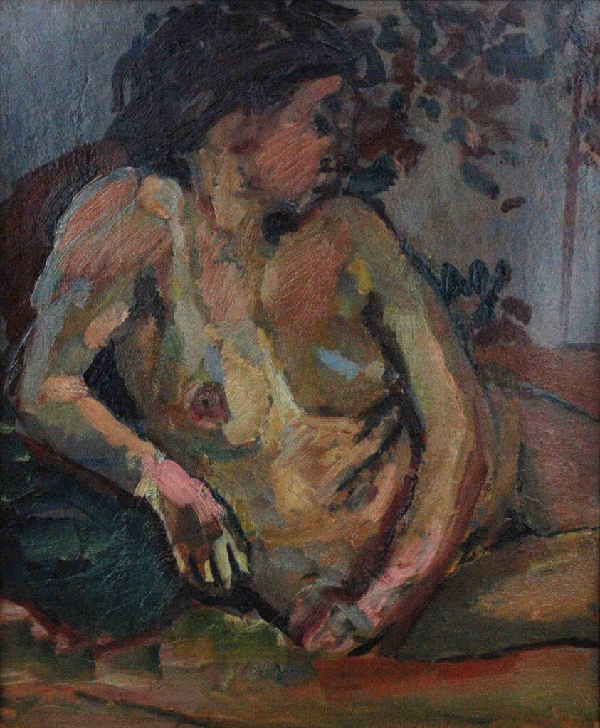 Weiblicher Halbakt, 1912