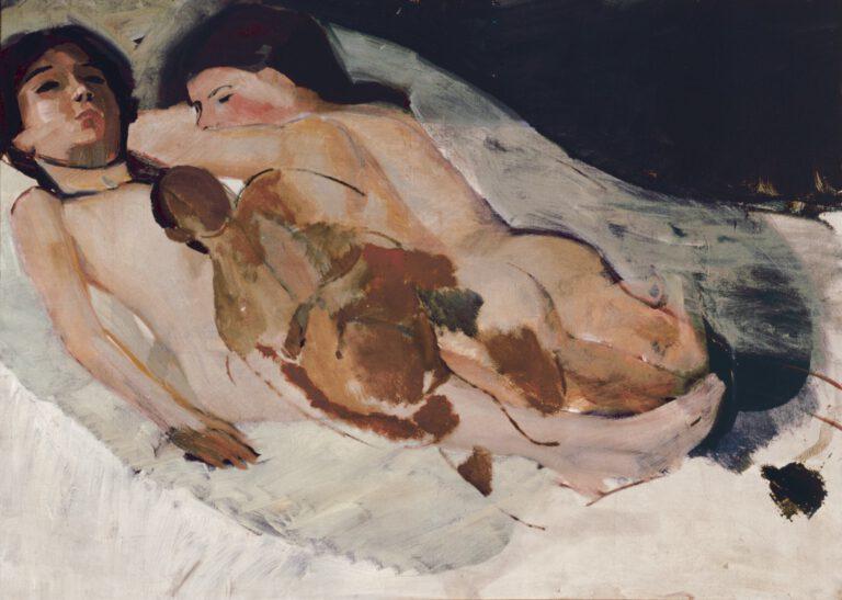Zwei liegende Mädchenakte, um 1910