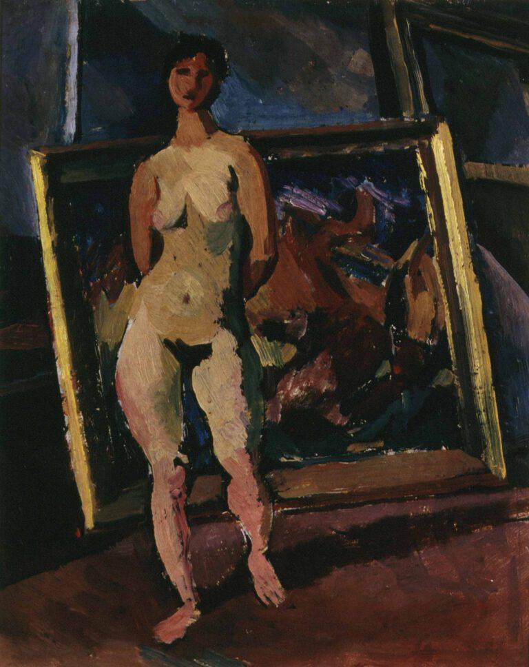 Schreitender weiblicher Akt, 1914