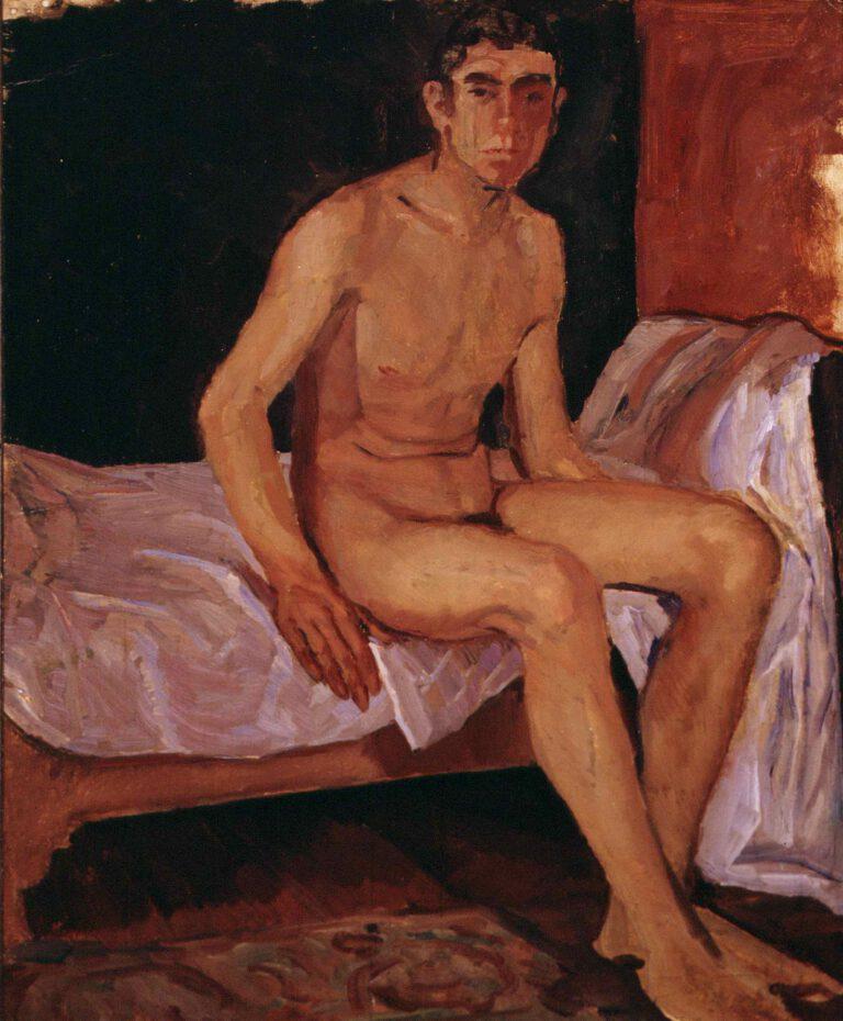 Sitzender männlicher Akt, 1909