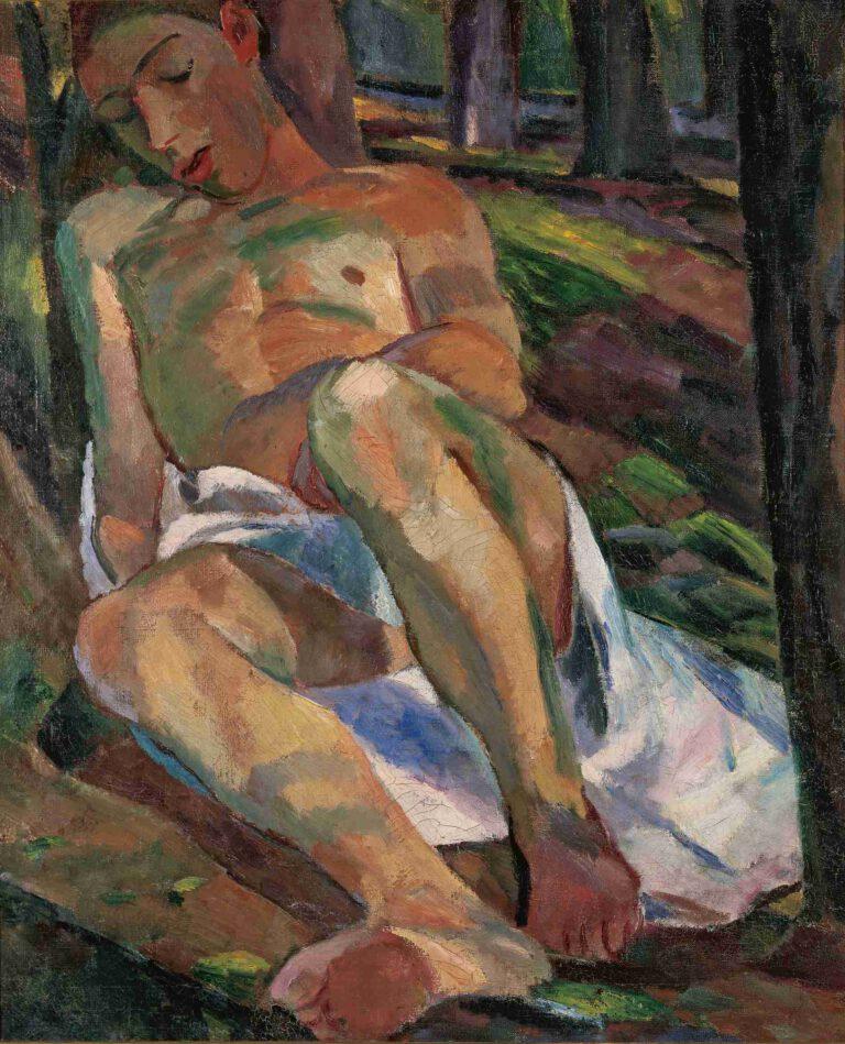 Schlafender Knabe im Walde, 1912