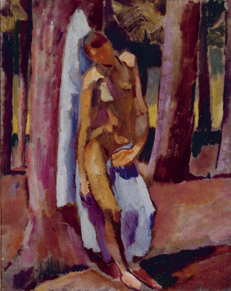 Sebastian mit blauem Tuch, 1913