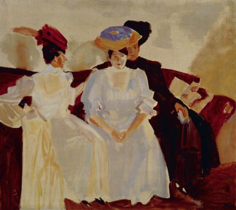 Drei Damen auf dem Sofa, 1906