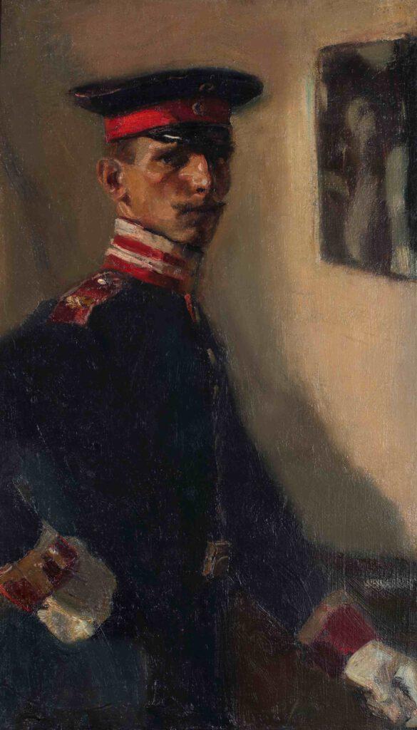 Selbstbildnis als Unteroffizier, 1905