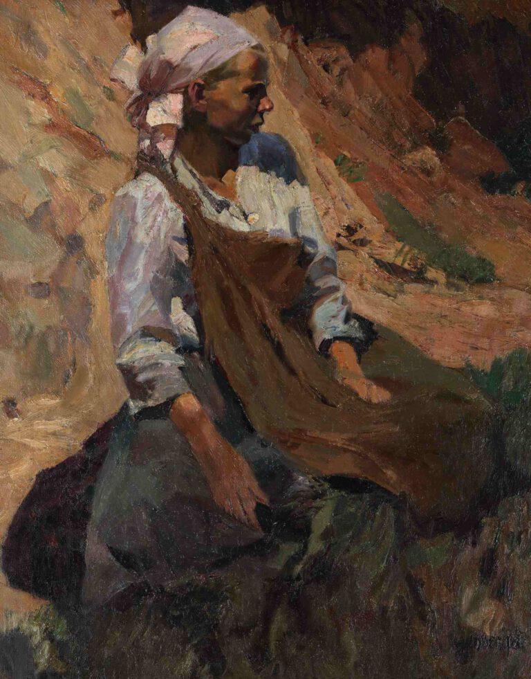 Junges Bauernmädchen (Schnitterin), 1904